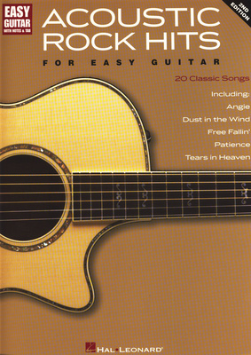 Hal Leonard Acoustic Rock Hits Easy Guitar